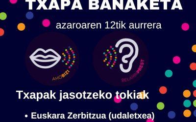 TXAPAK JASOTZEKO LEKUAK